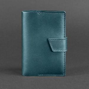 Кожаная обложка на паспорт 4.0 Малахит-1