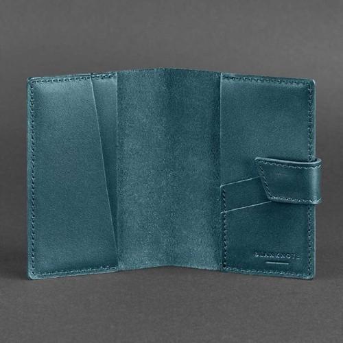 Кожаная обложка на паспорт 4.0 Малахит-4