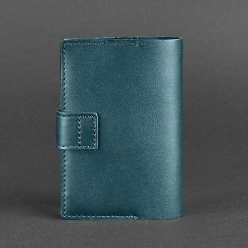 Кожаная обложка на паспорт 4.0 Малахит-3