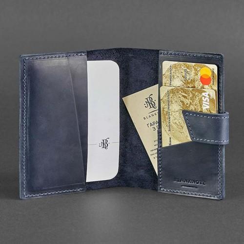 Кожаная обложка на паспорт 4.0 Ночное небо-4