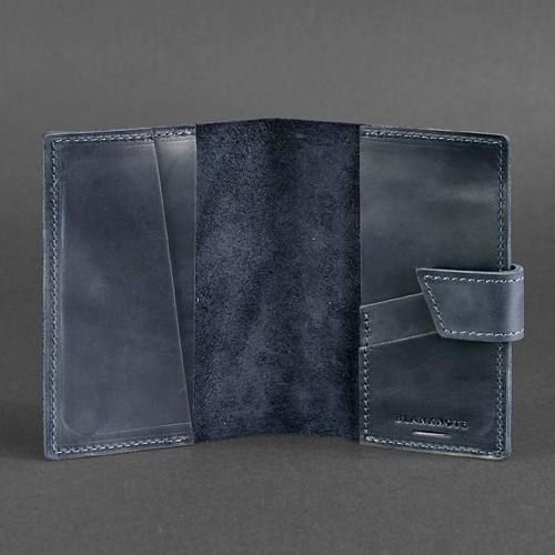 Кожаная обложка на паспорт 4.0 Ночное небо-3