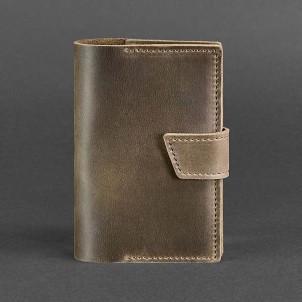 Кожаная обложка на паспорт 4.0 Орех -1