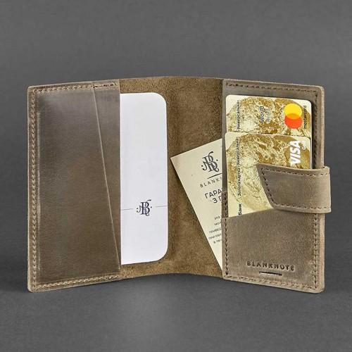 Кожаная обложка на паспорт 4.0 Орех -4