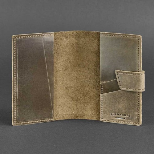 Кожаная обложка на паспорт 4.0 Орех -3