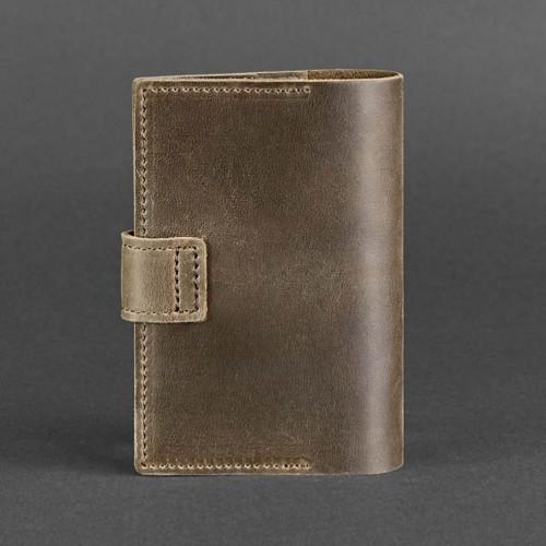 Кожаная обложка на паспорт 4.0 Орех -2