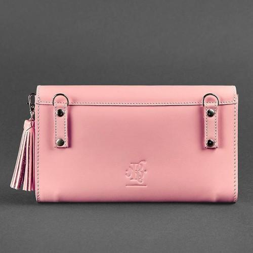"""Кожаная сумочка """"Элис"""" Розовый персик-2"""