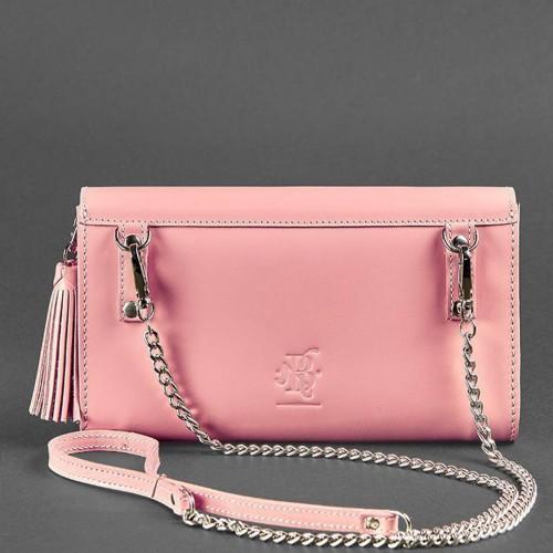 """Кожаная сумочка """"Элис"""" Розовый персик-3"""
