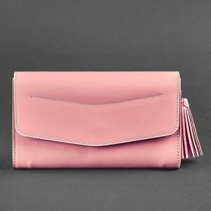 """Кожаная сумочка """"Элис"""" Розовый персик-1"""