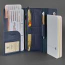 Кожаный клатч и дорожный органайзер 5.0 Синий Blanknote-4