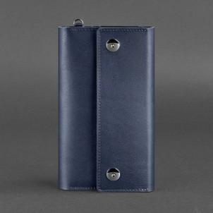Кожаный клатч-органайзер (тревел-кейс) 5.0 Синий-1