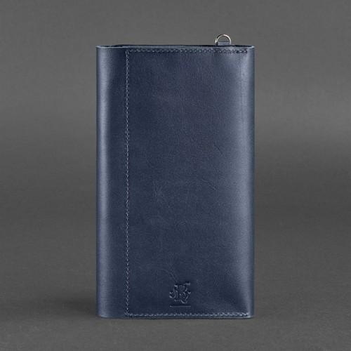 Кожаный клатч-органайзер (тревел-кейс) 5.0 Синий-3