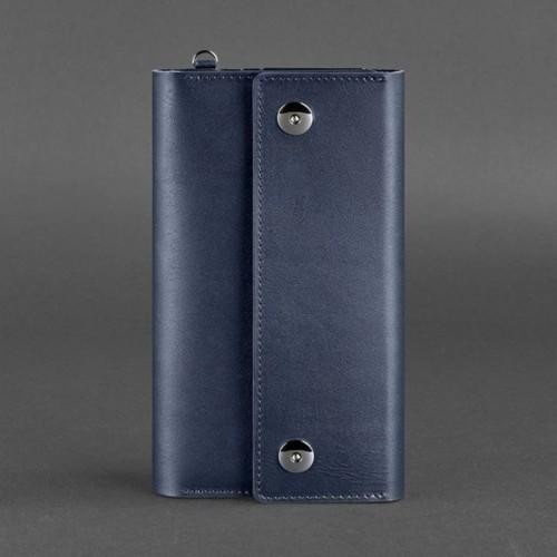 Кожаный клатч и дорожный органайзер 5.0 Синий Blanknote