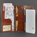Кожаный клатч и дорожный органайзер 5.0 Коньяк Blanknote-4