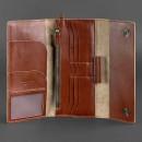 Кожаный клатч и дорожный органайзер 5.0 Коньяк Blanknote-2