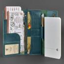 Кожаный клатч и дорожный органайзер 5.0 Малахит Blanknote-5