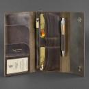 Кожаный клатч и дорожный органайзер 5.0 Орех Blanknote-5