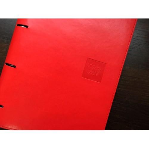 Блокнот-органайзер на кольцах BogushBook Бизнес Красный-3