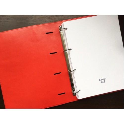Блокнот-органайзер на кольцах BogushBook Бизнес Серый-4
