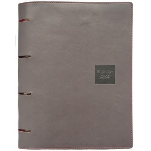 Блокнот-органайзер на кольцах BogushBook Бизнес Серый-1