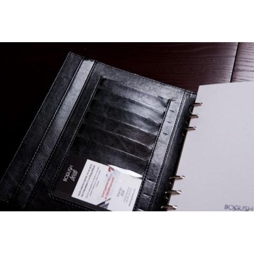 Блокнот-органайзер на кольцах BogushBook Демократ Черный-2