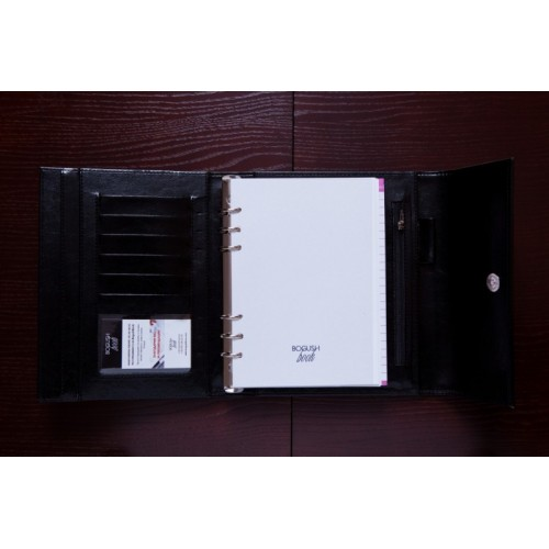 Блокнот-органайзер на кольцах BogushBook Демократ Черный-6
