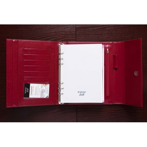 Блокнот-органайзер на кольцах BogushBook Демократ Бордо-2
