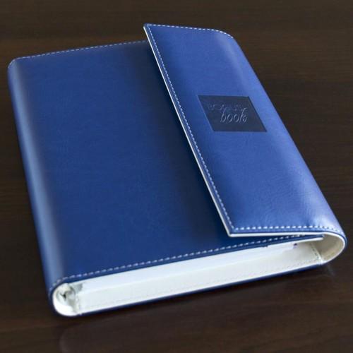 Блокнот-органайзер на кольцах BogushBook Демократ Синий с белым-3