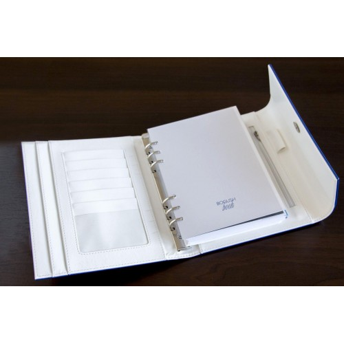 Блокнот-органайзер на кольцах BogushBook Демократ Синий с белым-2