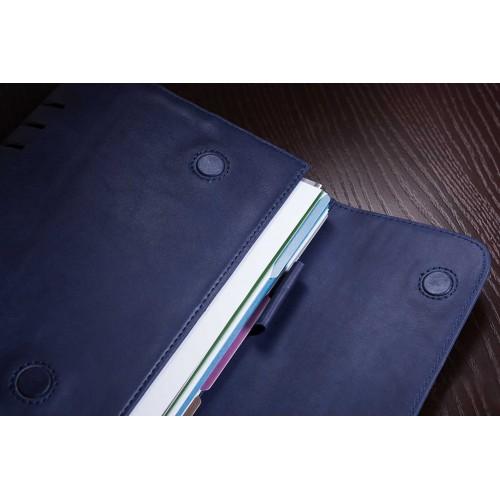 Кожаный блокнот-органайзер на кольцах BogushBook Комфорт Балтика-3