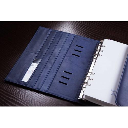 Кожаный блокнот-органайзер на кольцах BogushBook Комфорт Балтика-2