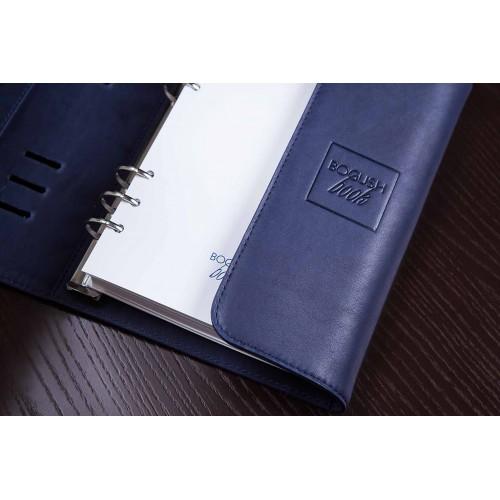 Кожаный блокнот-органайзер на кольцах BogushBook Комфорт Балтика-7