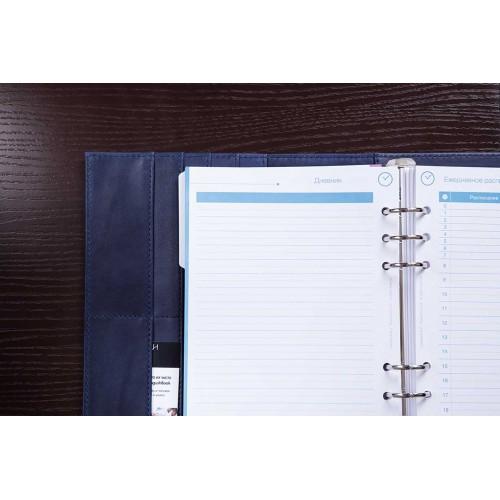 Кожаный блокнот-органайзер на кольцах BogushBook Комфорт Балтика-6