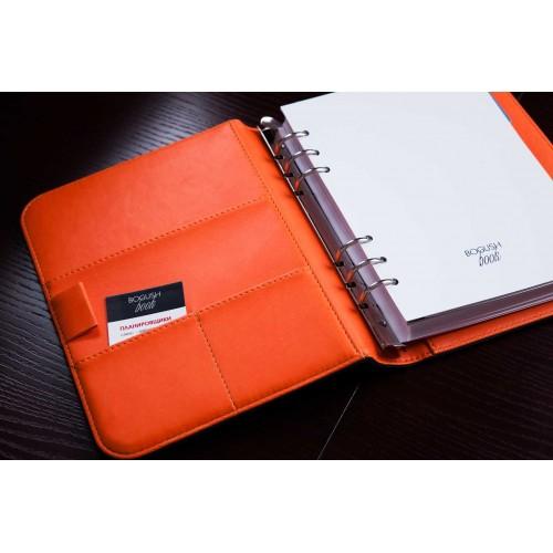 Блокнот-органайзер на кольцах BogushBook Лайт Бирюзово-оранжевый-3