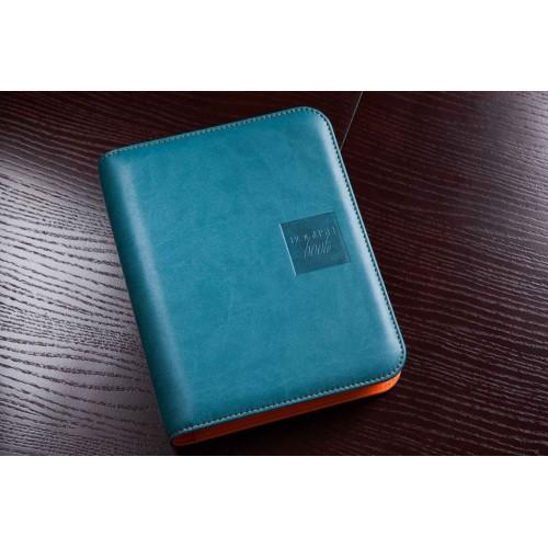 Блокнот-органайзер на кольцах BogushBook Лайт Бирюзово-оранжевый-2