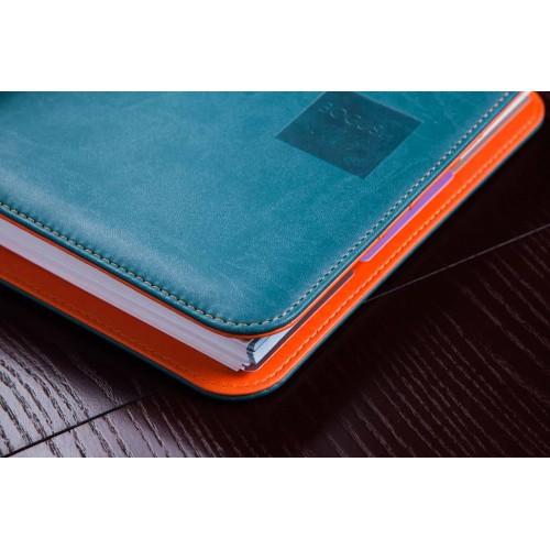 Блокнот-органайзер на кольцах BogushBook Лайт Бирюзово-оранжевый-4
