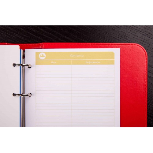 Блокнот-органайзер на кольцах BogushBook Лайт Красный-6