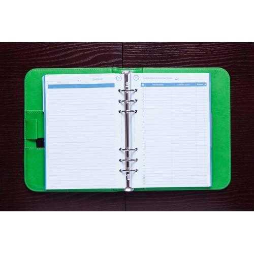 Блокнот-органайзер на кольцах BogushBook Лайт Зеленый-3