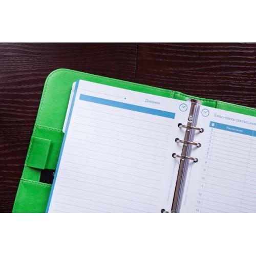Блокнот-органайзер на кольцах BogushBook Лайт Зеленый-5