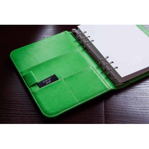 Блокнот-органайзер на кольцах BogushBook Лайт Зеленый-6