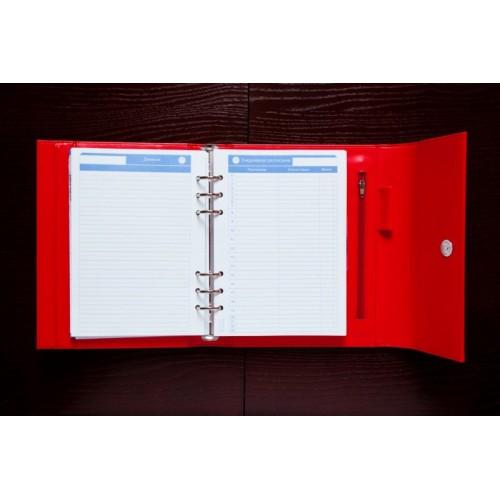 Блокнот-органайзер на кольцах BogushBook Демократ Алый-6