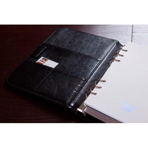 Блокнот-органайзер на кольцах BogushBook Лайт Черный-3