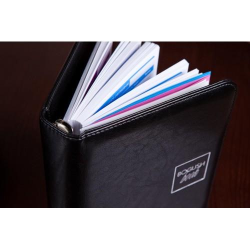 Блокнот-органайзер на кольцах BogushBook Лайт Черный-4