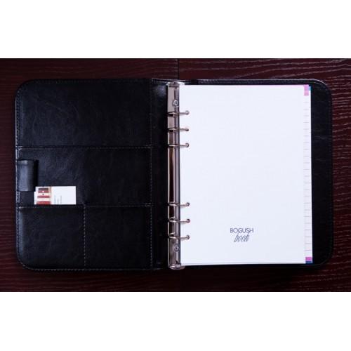 Блокнот-органайзер на кольцах BogushBook Лайт Черный-2