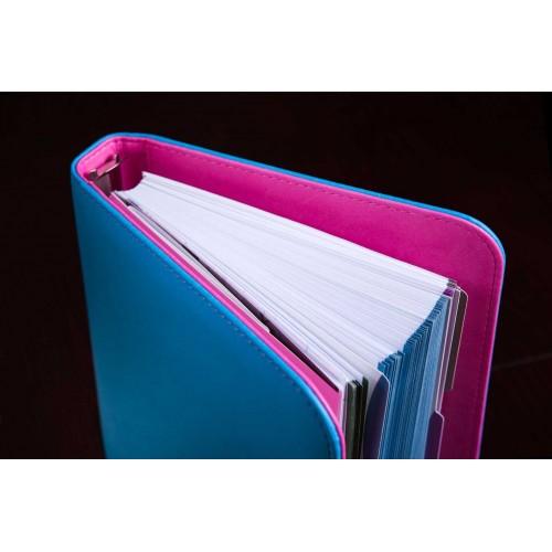 Блокнот-органайзер на кольцах BogushBook Лайт Голубо-розовый-2