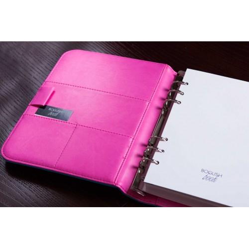 Блокнот-органайзер на кольцах BogushBook Лайт Голубо-розовый-3