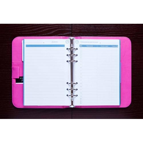 Блокнот-органайзер на кольцах BogushBook Лайт Голубо-розовый-5