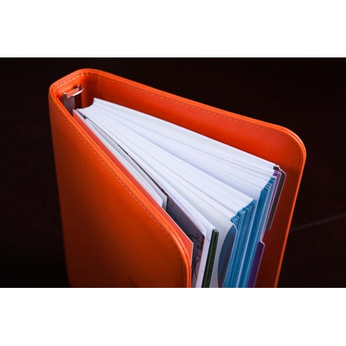 Блокнот-органайзер на кольцах BogushBook Лайт Оранжевый-6
