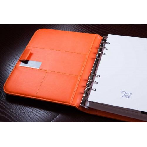 Блокнот-органайзер на кольцах BogushBook Лайт Оранжевый-4