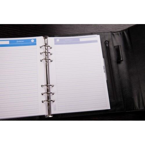 Кожаный блокнот-органайзер на кольцах BogushBook Престиж Харли Девидсон-2