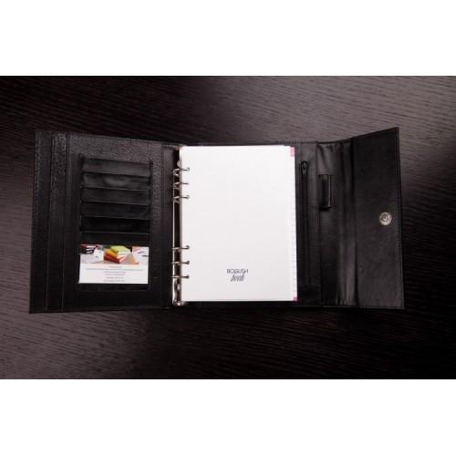 Кожаный блокнот-органайзер на кольцах BogushBook Престиж Харли Девидсон-3